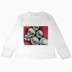 Halloween Skulls No.1 Kids Long Sleeve T-Shirts
