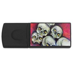 Halloween Skulls No 1 Usb Flash Drive Rectangular (4 Gb)
