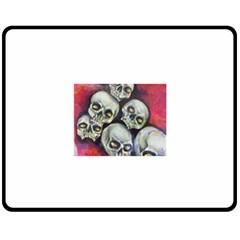 Halloween Skulls No 1 Fleece Blanket (medium)