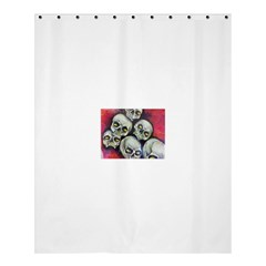 Halloween Skulls No.1 Shower Curtain 60  x 72  (Medium)