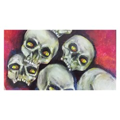 Halloween Skulls No 1 You Are Invited 3d Greeting Card (8x4)
