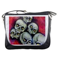 Halloween Skulls No 1 Messenger Bags