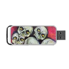 Halloween Skulls No 1 Portable Usb Flash (two Sides)