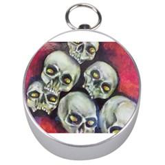 Halloween Skulls No 1 Silver Compasses