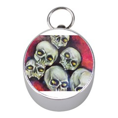 Halloween Skulls No.1 Mini Silver Compasses
