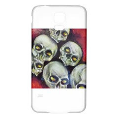 Halloween Skulls No.1 Samsung Galaxy S5 Back Case (White)