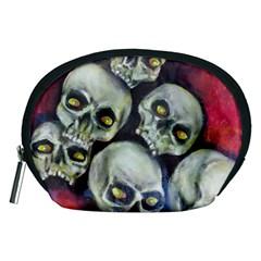 Halloween Skulls No 1 Accessory Pouches (medium)