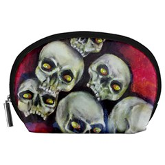 Halloween Skulls No 1 Accessory Pouches (large)