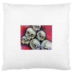 Halloween Skulls No.1 Large Flano Cushion Cases (One Side)