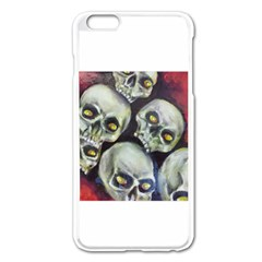 Halloween Skulls No.1 Apple iPhone 6 Plus Enamel White Case