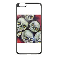 Halloween Skulls No 1 Apple Iphone 6 Plus Black Enamel Case