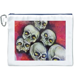 Halloween Skulls No.1 Canvas Cosmetic Bag (XXXL)
