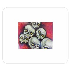 Halloween Skulls No.1 Double Sided Flano Blanket (Small)