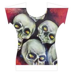 Halloween Skulls No.1 Women s Cap Sleeve Top