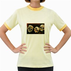 Halloween Skulls No. 2 Women s Fitted Ringer T-Shirts
