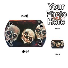 Halloween Skulls No  2 Playing Cards 54 (round)