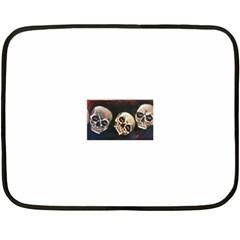 Halloween Skulls No. 2 Fleece Blanket (Mini)