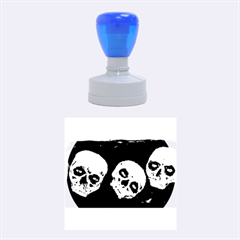 Halloween Skulls No. 2 Rubber Round Stamps (Medium)