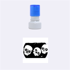 Halloween Skulls No. 2 Rubber Round Stamps (Small)