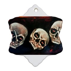 Halloween Skulls No  2 Ornament (snowflake)