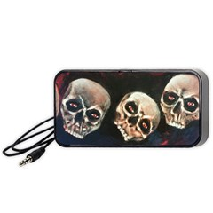 Halloween Skulls No. 2 Portable Speaker (Black)