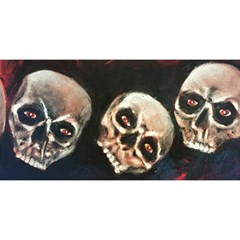 Halloween Skulls No  2 You Are Invited 3d Greeting Card (8x4)