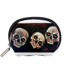 Halloween Skulls No  2 Accessory Pouches (small)