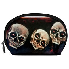 Halloween Skulls No  2 Accessory Pouches (large)