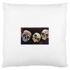 Halloween Skulls No. 2 Standard Flano Cushion Cases (One Side)