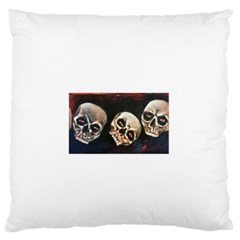 Halloween Skulls No. 2 Large Flano Cushion Cases (Two Sides)