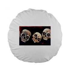 Halloween Skulls No. 2 Standard 15  Premium Flano Round Cushions