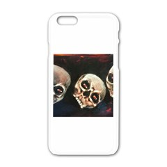 Halloween Skulls No. 2 Apple iPhone 6 White Enamel Case