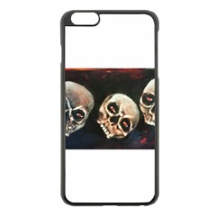 Halloween Skulls No. 2 Apple iPhone 6 Plus Black Enamel Case