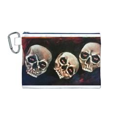 Halloween Skulls No. 2 Canvas Cosmetic Bag (M)