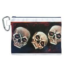 Halloween Skulls No. 2 Canvas Cosmetic Bag (L)