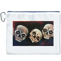 Halloween Skulls No. 2 Canvas Cosmetic Bag (XXXL)