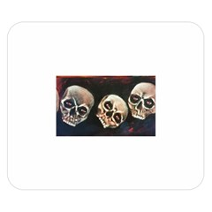 Halloween Skulls No  2 Double Sided Flano Blanket (small)