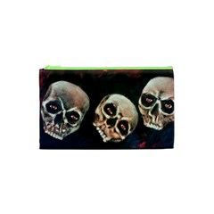 Halloween Skulls No. 2 Cosmetic Bag (XS)