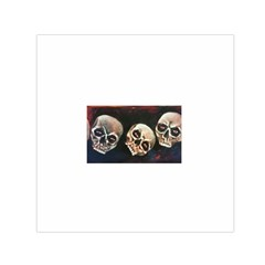 Halloween Skulls No  2 Small Satin Scarf (square)