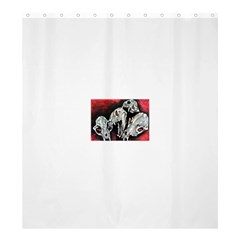 Halloween Skulls No. 3 Shower Curtain 66  x 72  (Large)