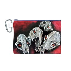Halloween Skulls No. 3 Canvas Cosmetic Bag (M)