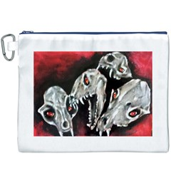 Halloween Skulls No. 3 Canvas Cosmetic Bag (XXXL)
