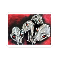 Halloween Skulls No  3 Double Sided Flano Blanket (mini)