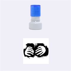 Halloween Bones Rubber Round Stamps (Small)