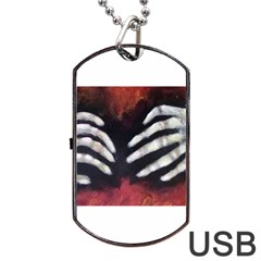 Halloween Bones Dog Tag Usb Flash (one Side)