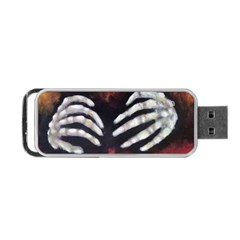 Halloween Bones Portable Usb Flash (two Sides)