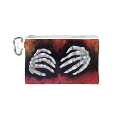 Halloween Bones Canvas Cosmetic Bag (S)
