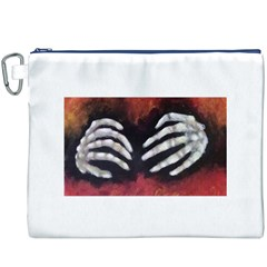 Halloween Bones Canvas Cosmetic Bag (xxxl)