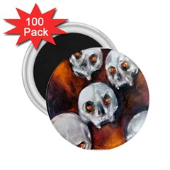Halloween Skulls No  4 2 25  Magnets (100 Pack)