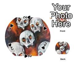 Halloween Skulls No  4 Playing Cards 54 (round)